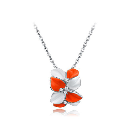 Colorful Petals Pendant Necklace