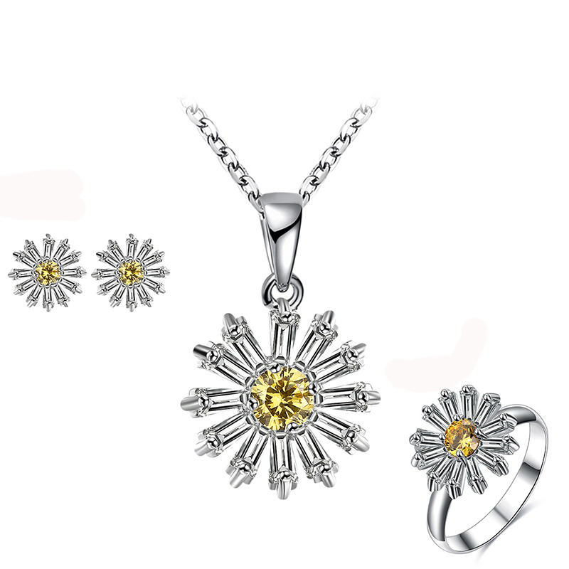 Small Daisy Flower Diamond Set