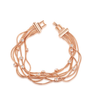 Multi Wire Roes Gold Bracelet