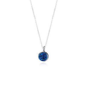 S925 Sweet and Round Sapphire Necklace
