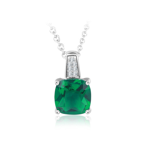 Exclamation Emerald Fashion Necklace