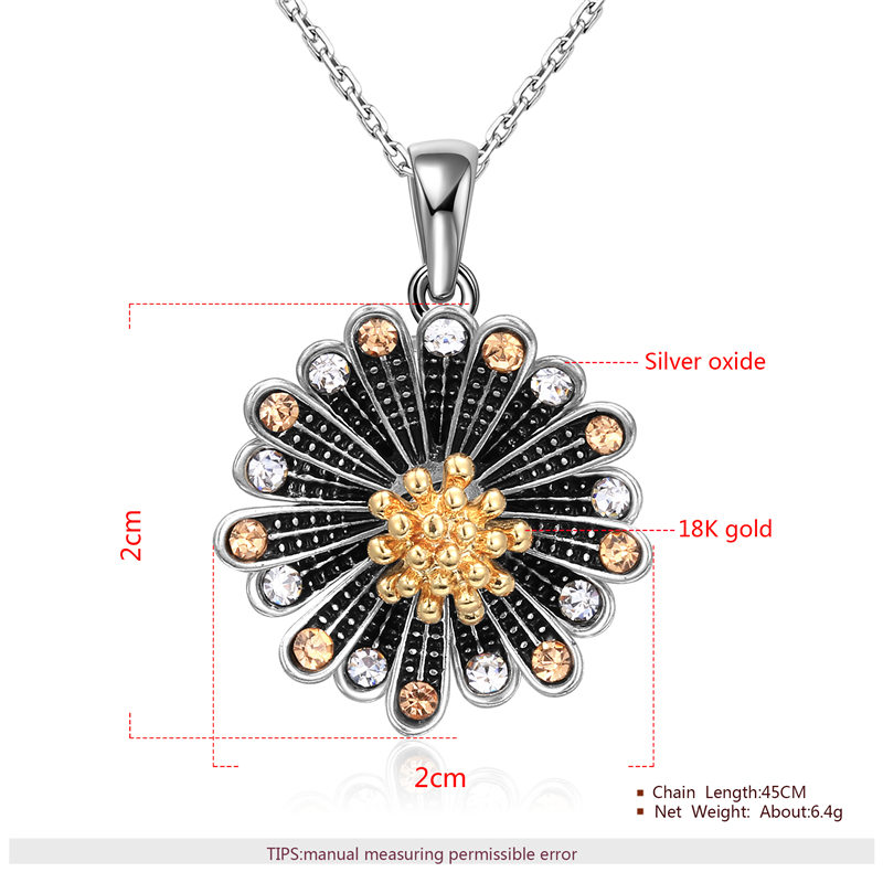 Chrysanthemum Two-Tone Set - Necklace
