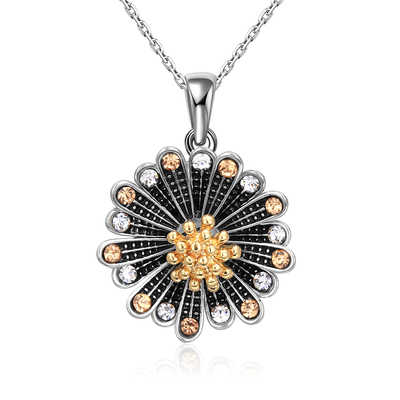 Chrysanthemum Two-Tone Necklace