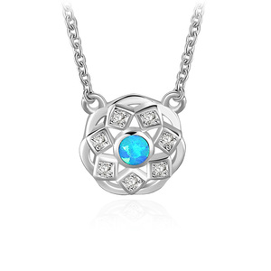 Rose Pattern 925 Sterling Silver Necklace