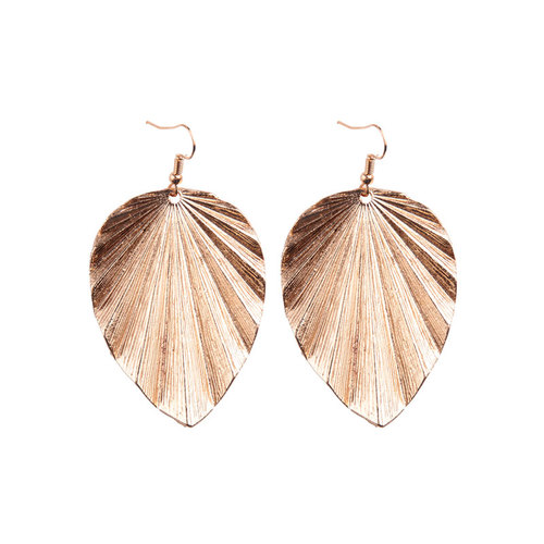 Concise Style Leaf Drop Earrings