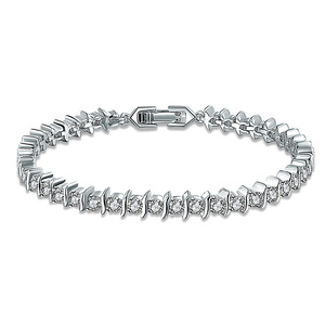 White Gold and White Diamond Bracelet