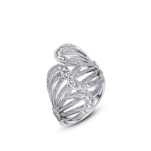 Butterfly Wings White Gold Ring