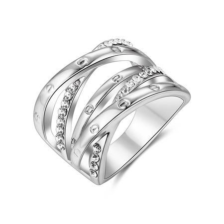 Multi-Row Intersect White Gold Ring