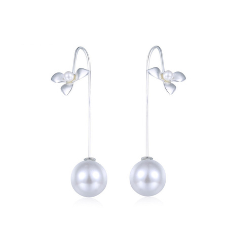 Fan Blade Pearl Earrings