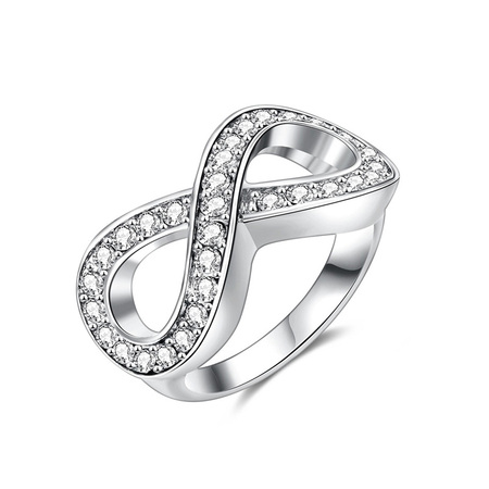 Infinity White Gold Ring