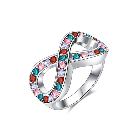 Infinity Mixed Diamond Ring - White