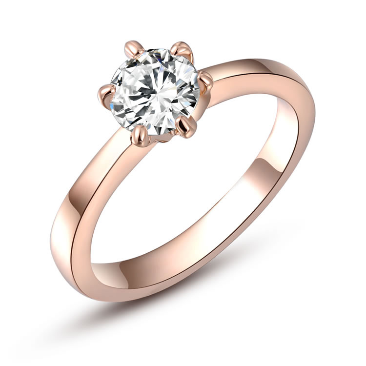 Classic Solitaire Rose Gold Ring
