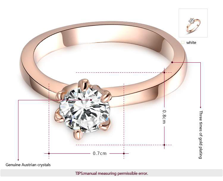 Classic Solitaire Rose Gold Engagement Ring