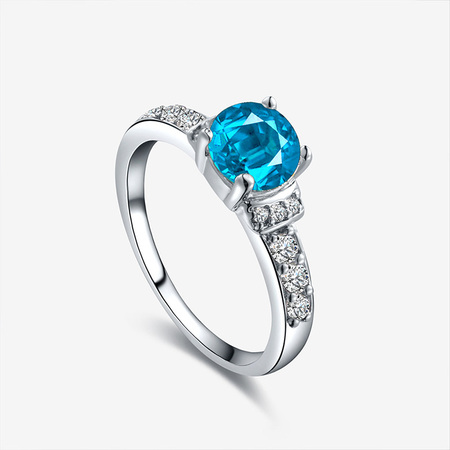 Hearts Love Wedding Ring - Blue