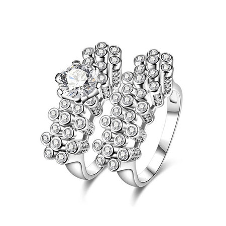 Peg White Gold Diamond Rings Set
