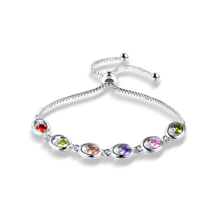 Six Colors Zirconia White Gold Bracelet