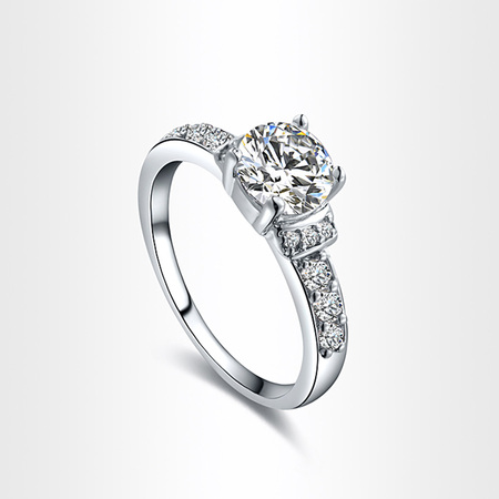 Hearts Love Wedding Ring - White