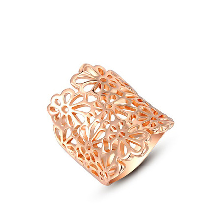 Cut Out Flower Rose Gold Ring
