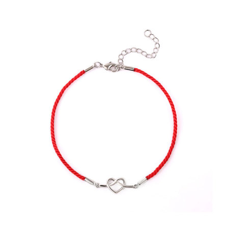 Kink Heart Red Cord Bracelet