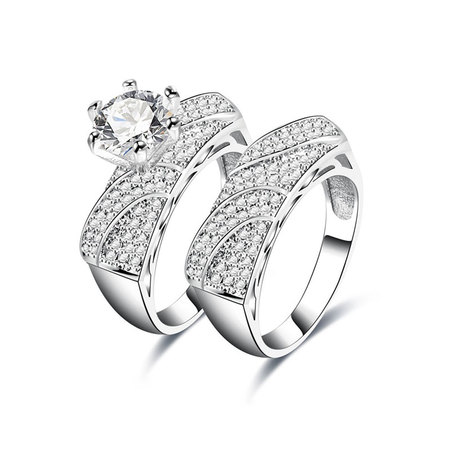Five Irregular Shape Diamond Couple Rings