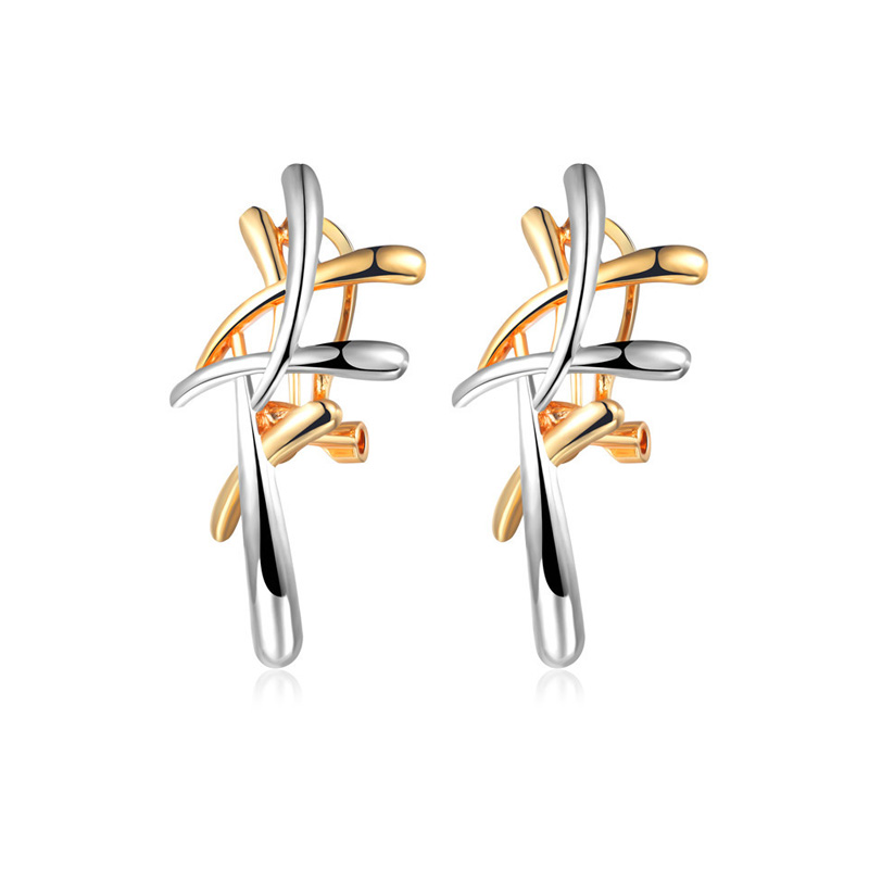 Crown Of Thorns Two-Tone Earrings