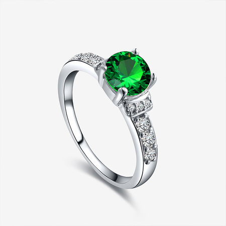 Hearts Love Wedding Ring - Green