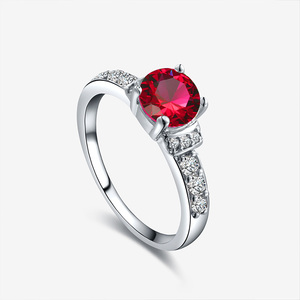 Hearts Love Wedding Ring - Red