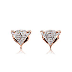 Fox Head Stud Rose Gold Earrings