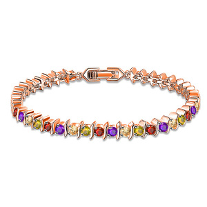 Rose Gold and Multicolour Diamond Bracelet