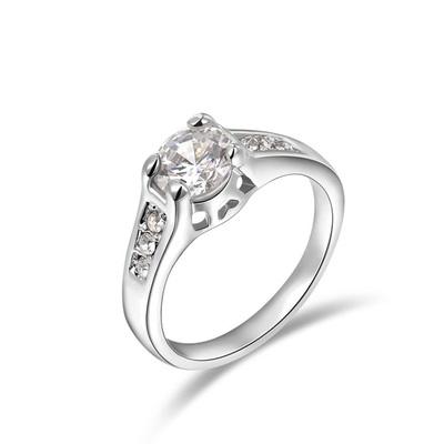 Diamond Semi-Mount White Gold Ring