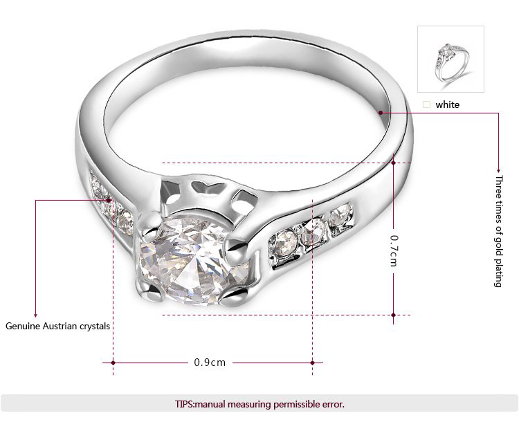 Diamond Semi-Mount Engagement White Gold Ring