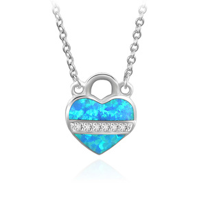 Heart Lock 925 Sterling Silver Necklace
