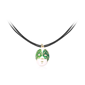 Angel Face Green Pendant