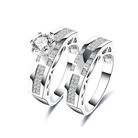 Link Together Diamond Couple Rings