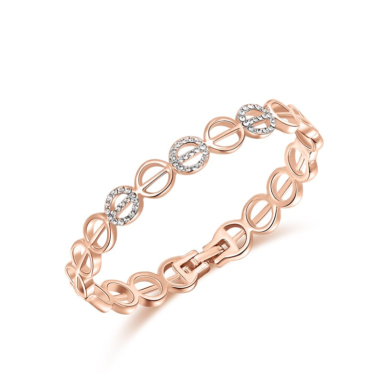 Round Cut Out Rose Gold Bangle