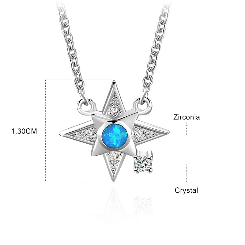 Lucky Star Pendant 925 Sterling Silver Necklace