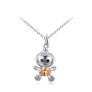 Naughty Kid Pendant Necklace - White
