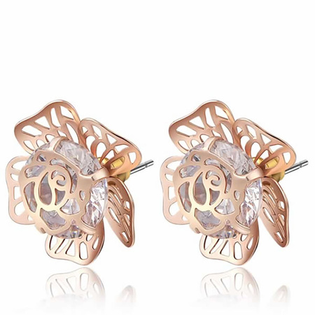 Gem Pistil Flower Earrings