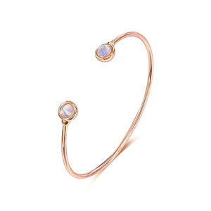 Simplicity Moonstone Rose Gold Bangle