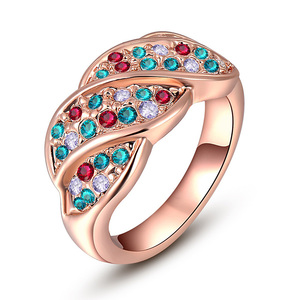 Four Section Mixed Diamond Ring - Rose