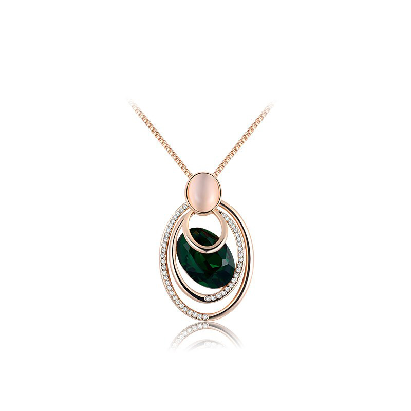 Deep Eye Emerald Pendant