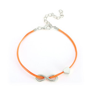 Endless Love White Gold & Cord Bracelet