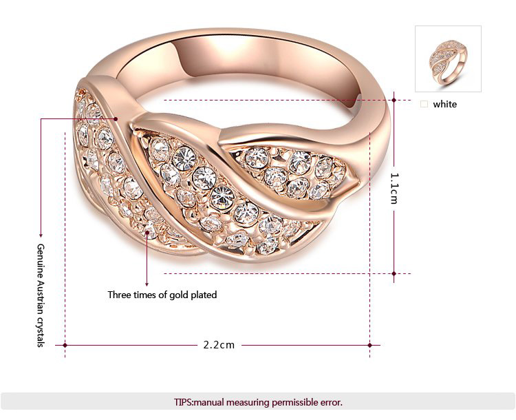 Four Section Rose Gold Ring