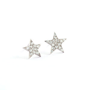 Pentagram 925 Sterling Silver Stud Earrings