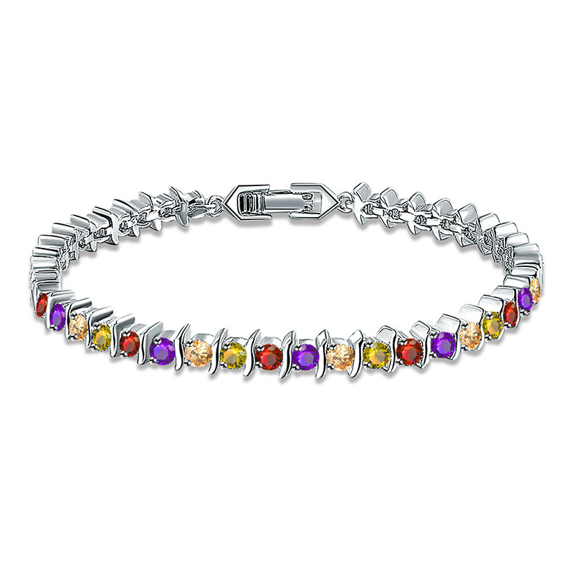 White Gold and Multicolour Diamond Bracelet