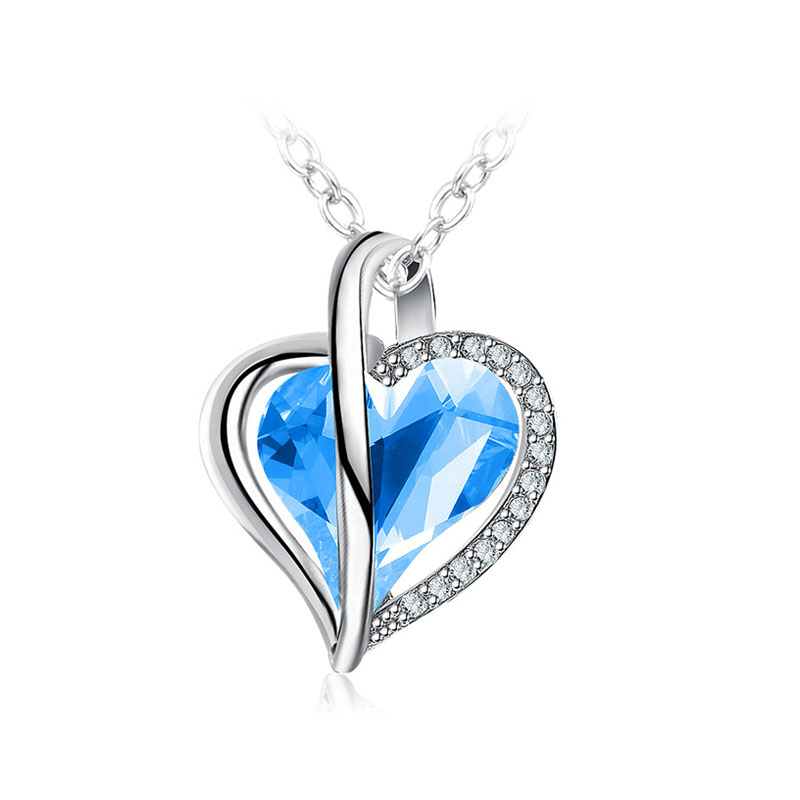 Charm of Heart Sapphire Necklace