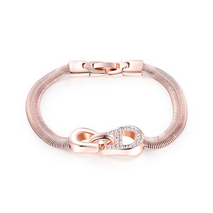 Buckle Snakelike Rose Gold Bracelet