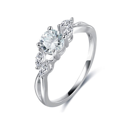 Round & Marquise Diamond Engagement Ring