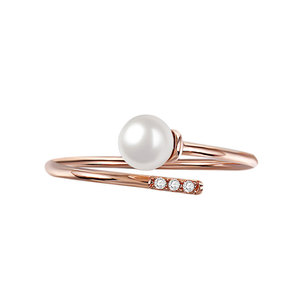 Stagger Openings Pearl Ring
