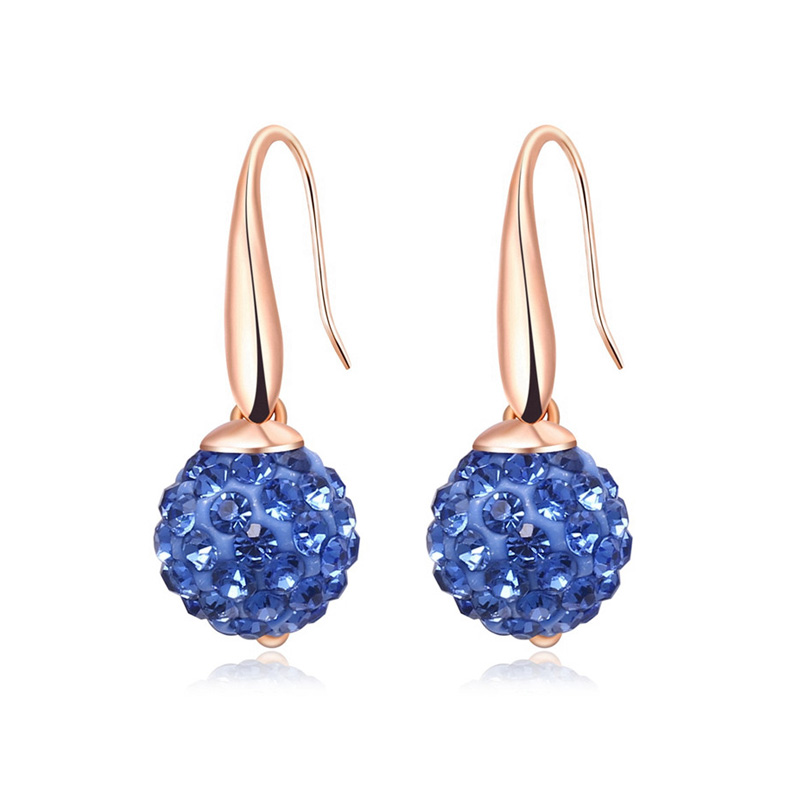 Moon Surface Sapphire Earrings